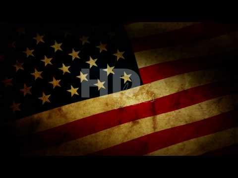 Grunge American Flag - HD Background Loop