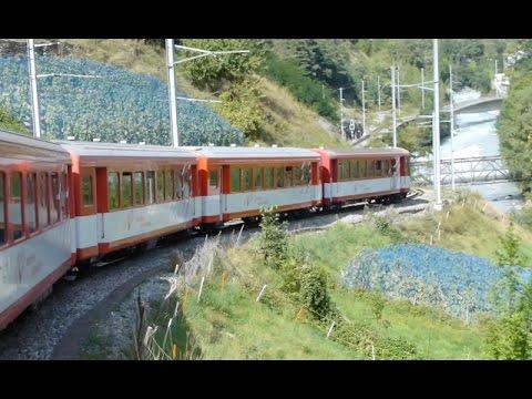 Swiss Trains: Glacier Express route, Zermatt to Brig, 15Sep14