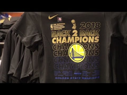 Warriors fans line up for gear outside Oracle Arena after NBA Finals win