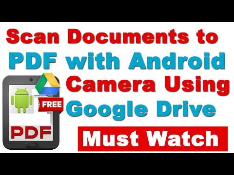 How to Scan Documents to PDF with Your Android Phone's Camera Using Google Drive (Must Watch)