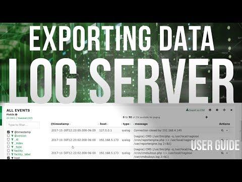 Exporting Data in Log Server 2