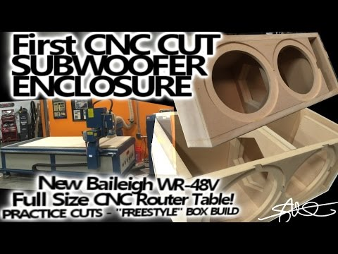 First CNC Project - Ported Subwoofer Enclosure -