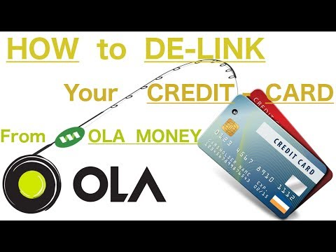 How to DeLink your Credit Card from OLA app