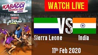 Kabaddi World Cup 2020 Live - Sierra Leone vs India - 11 Feb - Match 8   BSports