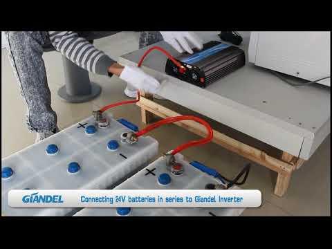 Giandel Inverter - Connect 2 x 12V Batteries in series to 1200W 24V Giandel Inverter PM-1200HSC