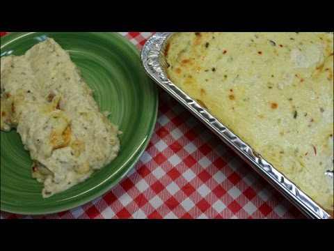 Salsa Verde Sour Cream Chicken Enchiladas ~Chicken Enchilada Recipe ~Bulk Cooking ~ Noreen's Kitchen