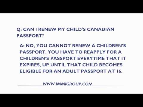 Can I Renew My Child's Canadian Passport?