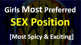 Which are Girls Most Preferred Sex Position: Indian Girls