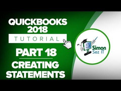 QuickBooks 2018 Training Tutorial Part 18: How to Create Customer Statements in QuickBooks
