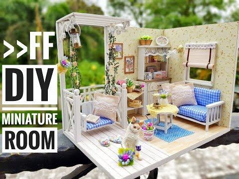 DIY Miniature 'Kitten Diary' Dollhouse Kit with Lights ('小貓日記' DIY 迷你場景系列)