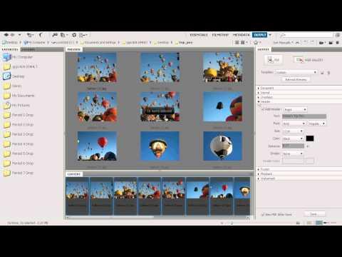 Adobe Bridge: Create a PDF