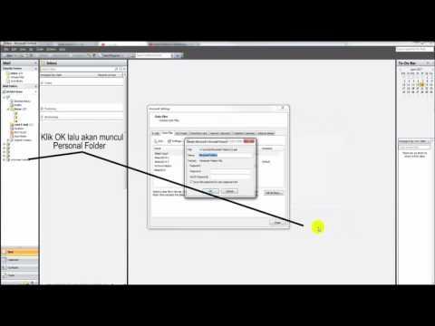 Membuat Personal Folder Baru pada Outlook 2007