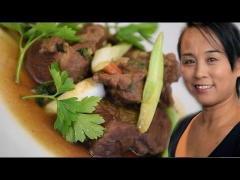 Chinese Braised Lamb & Monogyna Recipe (Chinese Cooking Recipe)