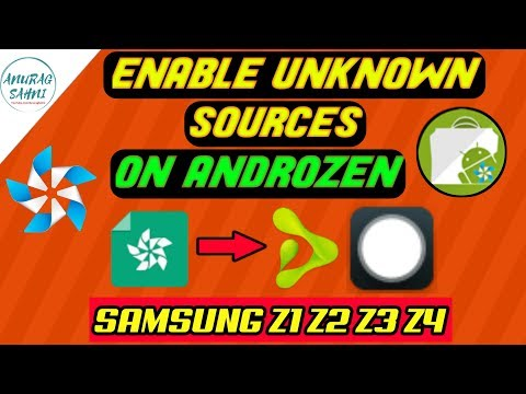 Enable Unknown Sources on Androzen Tizen | Mini Launcher for Tizen