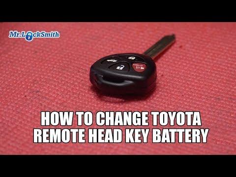 How to Change Toyota Remote Head Key Battery | Mr. Locksmith Video