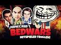 Die troll challenge Minecraft Bedwars Herr Bergmann