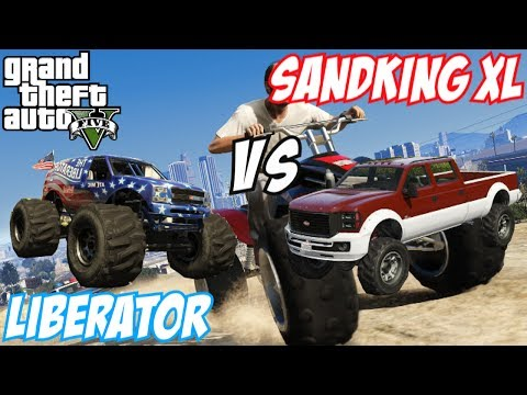 GTA 5 - The Liberator (Monster Truck) Vs Sandking XL | #57 (GTA V)