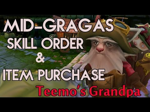 Mid-Lane Gragas Item Purchase & Skill Order Guide!!