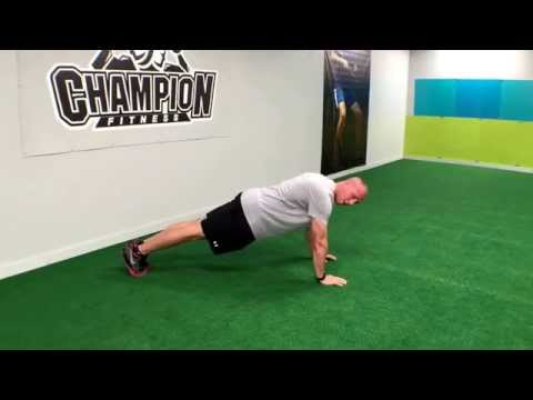 Plank in Push Up Position