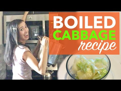 Boiled Cabbage Recipe | How to Boil Cabbage on the Stove