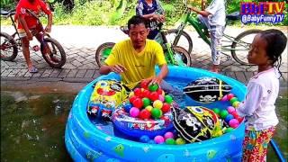 Kolam Air Mainan Anak Kecil - Bermain Mandi Bola, Balon Karakter Spongebob