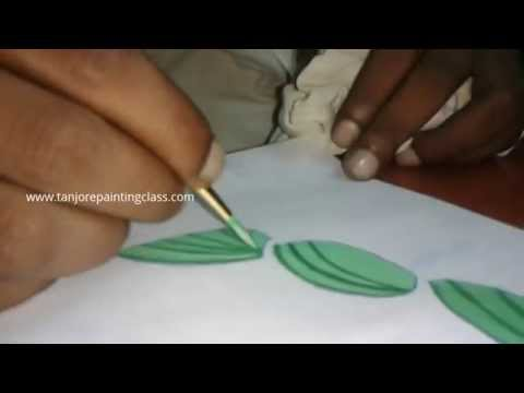 Tanjore paintings | Tutorial | DIY crafts | Procedure | Lesson 2 - Paint the traced tanjore painting