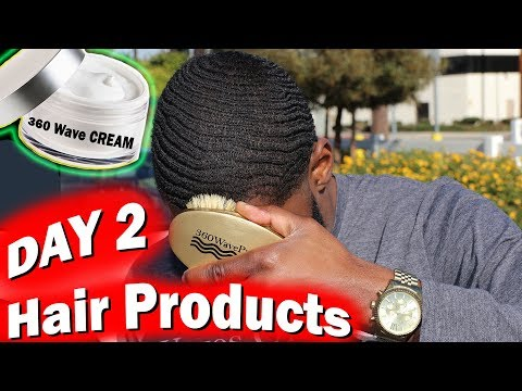 How to Get 360 Waves For Beginners: DAY 2 (Best Hair Products)