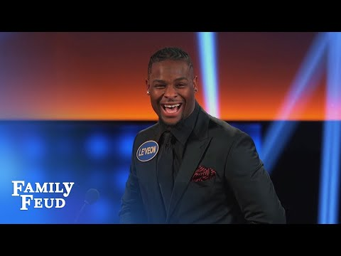 Get the door! It's... a NAKED WOMAN? | Celebrity Family Feud