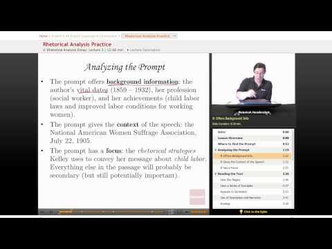 AP English: Rhetorical Analysis Practice