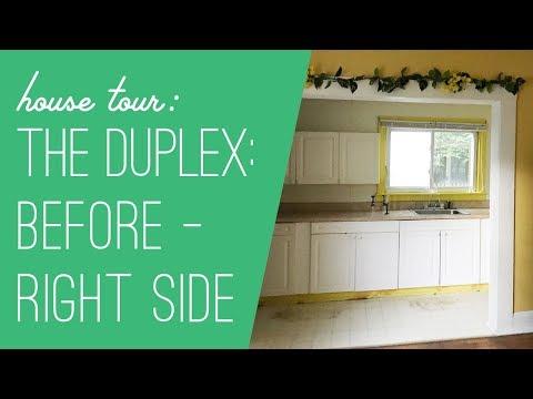 Beach Duplex Tour: Before - Right Side