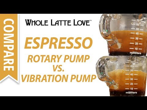 Compare: Espresso Quality on Rotary and Vibration Pump Machines