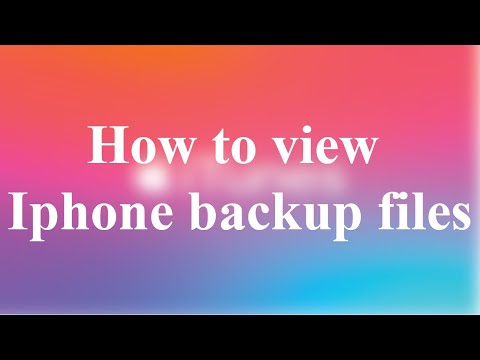 how to view iphone backup files on window or macs ibackup viewer tutorial