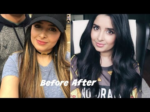 How I Dye My Hair At Home | Blonde to Black