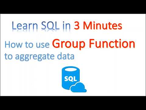 【Learn SQL in 3 minutes】--How to use Group Function to aggregate data(COUNT, MAX, MIN,AVG,SUM)