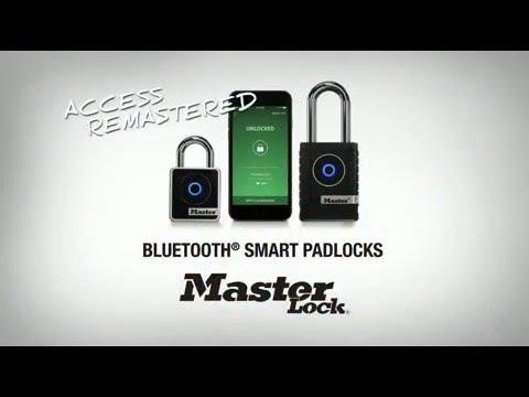 Unlock Master Lock Model 4400D Bluetooth® Padlock with an external battery