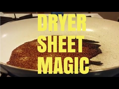 Clean A Cookie Sheet, Pan With Dryer Sheets, Burned Or Baked On Stains.