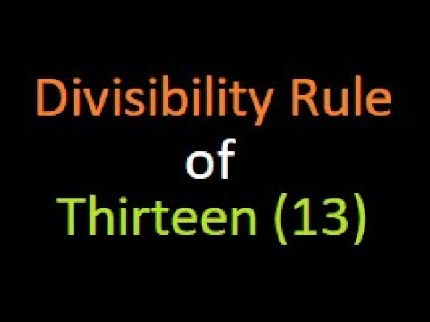 Divisibility Rule of 13 (Second Rule) : Bank PO | IBPS | SSC