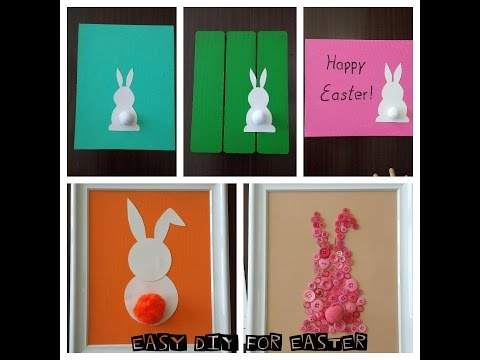 DIY Easy Bunny Picture Easter Deco