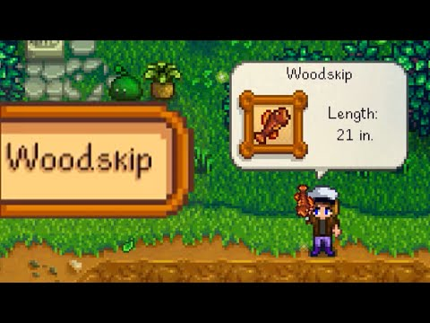 WHERE AND HOW TO CATCH WOODSKIP Stardew Valley