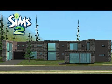 ♢ Dark Modern House ♢ The Sims 2 ♢