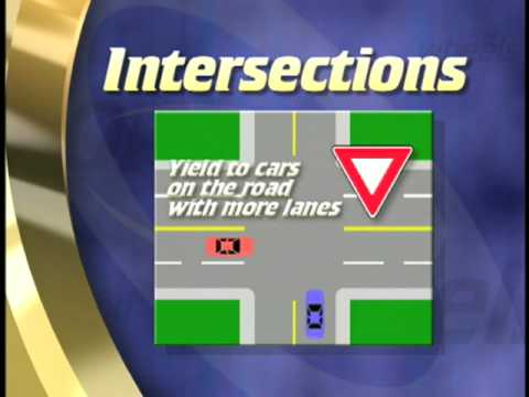 How to know who gets to go -- who has the right of way when driving