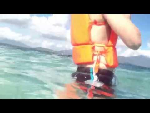Snorkeling at Pandan Island, Palawan, Philippines