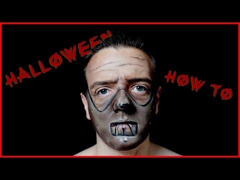 Hannibal Lecter Mask Makeup Tutorial for Halloween!