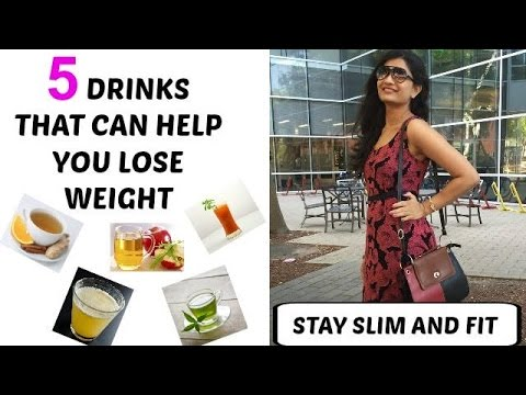 5 easy Homemade drinks to lose weight in Hindi with English subtitle-100% Natural -weight loss drink