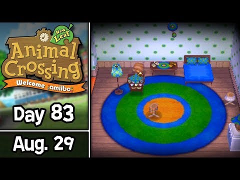 Animal Crossing: New Leaf, Day 83 • August 29 • Welcome amiibo Update