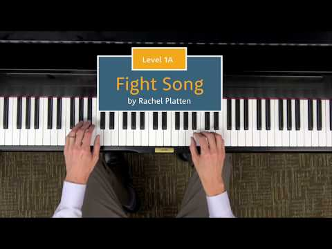 Fight Song - Level 1A Piano Repertoire Demo - Hoffman Academy