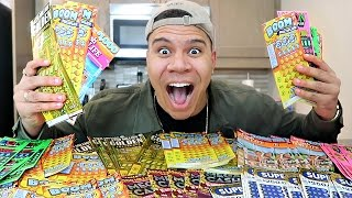 CRAZY $1000 LOTTERY JACKPOT CHALLENGE!! (WON THE BIGGEST JACKPOT)