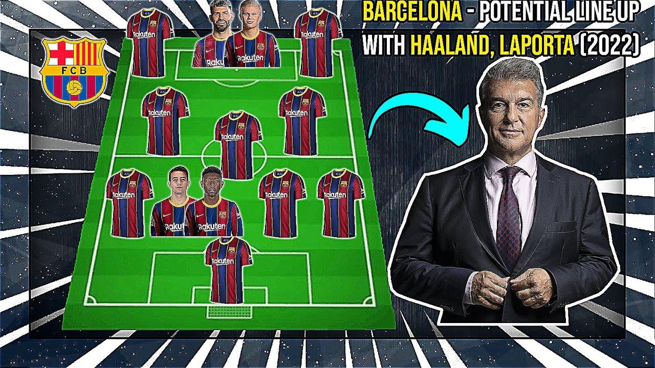 BARCELONA - Potential Line Up With Haaland, Aguero, Laporta (2021)