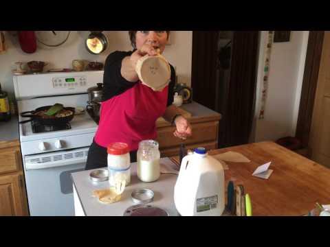 Milk Kefir Grain Straining