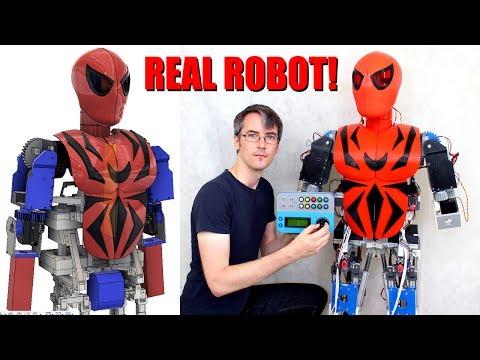Iron Spiderman Robot #2, Building Animatronic Neck & Chest   XRobots